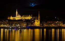 reformatus s νύχτας ψαράδων budai προμαχώνων Στοκ φωτογραφία με δικαίωμα ελεύθερης χρήσης