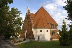 Reformed churc in Heviz, Hungary stock image