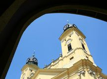 Reformed church. Of Debrecen City royalty free stock photo