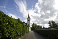 Reformed Church in Arlesheim Royalty Free Stock Images