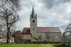 The reformed church from medieval fortress in Targu-Mures.