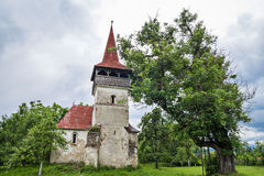 Reformed Church in Pesteana, Romania Stock Images