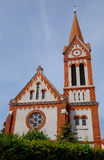 The Reformed Church, Roznava, Slovakia. The church was built between 1904-1905 according to the plans of architect Budapest Ferenc Weininger . It is a brick royalty free stock images