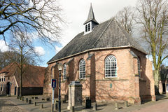 Reformed Church in the smallest city in the Netherlands. Royalty Free Stock Image