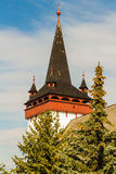 Reformed Church steeple stock images