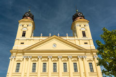 The Reformed Protestant Great Church. Is located downtown the city of Debrecen, Hungary between Kossuth square and Calvin square Stock Images