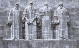 Reformers wall, Geneva, Switzerland, HDR. Close up on reformers wall in Geneva, Switzerland, HDR Stock Photo