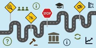Reforms road horizontal stock illustration