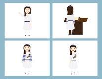 Reformy Żydowska dziewczyna w tradycyjnym nietoperza mitzvah Obrazy Royalty Free