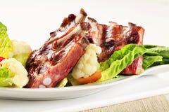 Reforços de carne de porco fumados Imagem de Stock Royalty Free