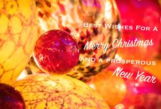 Refrán de la tarjeta de felicitación de la Navidad fotos de archivo