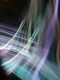 A refração da luz é aplicada na noite Imagem de Stock