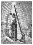 Refracting telescope of the observatory of Hamilton mountain Royalty Free Stock Image
