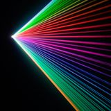 Refraction da mostra do laser Imagens de Stock Royalty Free