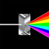 Refraction de prisma ilustração royalty free