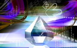 Refraction in a diamond. Digital illustration of refraction in a diamond Royalty Free Stock Image