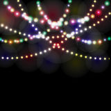 Refraction festive lights in the background of the night illustration. Refraction festive lights in the background of the night. Vector illustration Royalty Free Stock Image