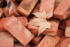 Refractory bricks. A bunch of scruffy firebrick Royalty Free Stock Photos