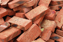 Refractory bricks. A bunch of scruffy firebrick Stock Images