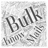 16 Refrain from Buying Bulk Mails word cloud concept  background Stock Photography