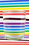 Refraktion av lightinen per exponeringsglas arkivbild