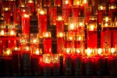 Refrein van Kaarsen Stock Afbeeldingen