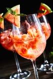 Refrescando a melancia, mint bebidas do cocktail imagens de stock royalty free