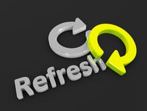 Refresh. 3d image, refresh graphic illustration Stock Photography