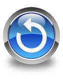 Refresh arrow icon glossy blue round button Royalty Free Stock Images