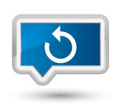 Refresh arrow icon prime blue banner button Royalty Free Stock Photography