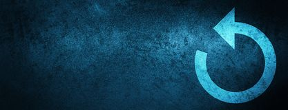 Refresh arrow icon special blue banner background. Refresh arrow icon isolated on special blue banner background abstract illustration royalty free illustration