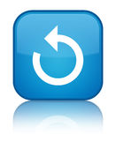 Refresh arrow icon special cyan blue square button Royalty Free Stock Images