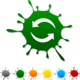 Refresh  blot. Refresh  blot icon. Vector illustration Stock Images