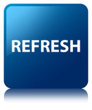 Refresh blue square button Royalty Free Stock Photography
