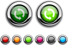 Refresh button. Refresh realistic buttons. Set of illustration Stock Photo