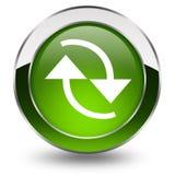 Refresh button. On white background Royalty Free Stock Photos