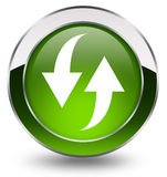 Refresh button. Refresh green button over white Royalty Free Stock Photo