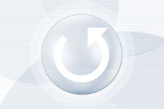 Refresh button symbol Royalty Free Stock Image