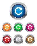 Refresh buttons. Collection of refresh buttons in various colors Stock Image