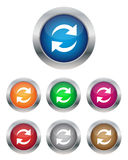 Refresh buttons. Collection of refresh buttons in various colors Stock Photography