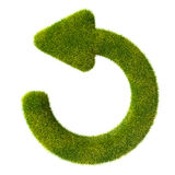 Refresh grass icon Stock Photography