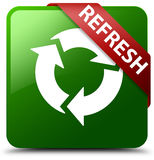 Refresh green square button Royalty Free Stock Photos