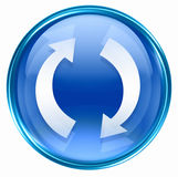 Refresh icon blue Royalty Free Stock Photo