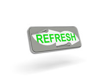 Refresh icon. Creative refresh button  on white background Stock Photos