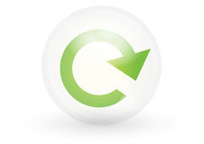 Refresh icon - vector. Web2 styled refresh icon in crystal ball, vector Stock Image