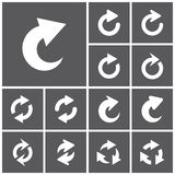 Refresh icons. Set of flat simple web icons (repeat, refresh, reload, redo, arrows),  illustration Stock Photos