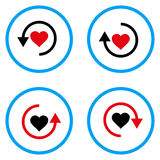 Refresh Love Rounded Vector Icons Royalty Free Stock Image