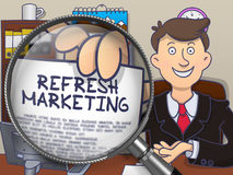 Refresh Marketing through Lens. Doodle Design. Royalty Free Stock Images