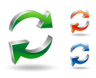 Refresh or recycling symbol. Vector illustration of refresh or recycling symbol Royalty Free Stock Image