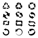 Refresh and reload arrows. Set of circle refresh and reload arrows icons. Vector illustartion Royalty Free Stock Photography